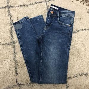 Zara blue wash skinny jeans
